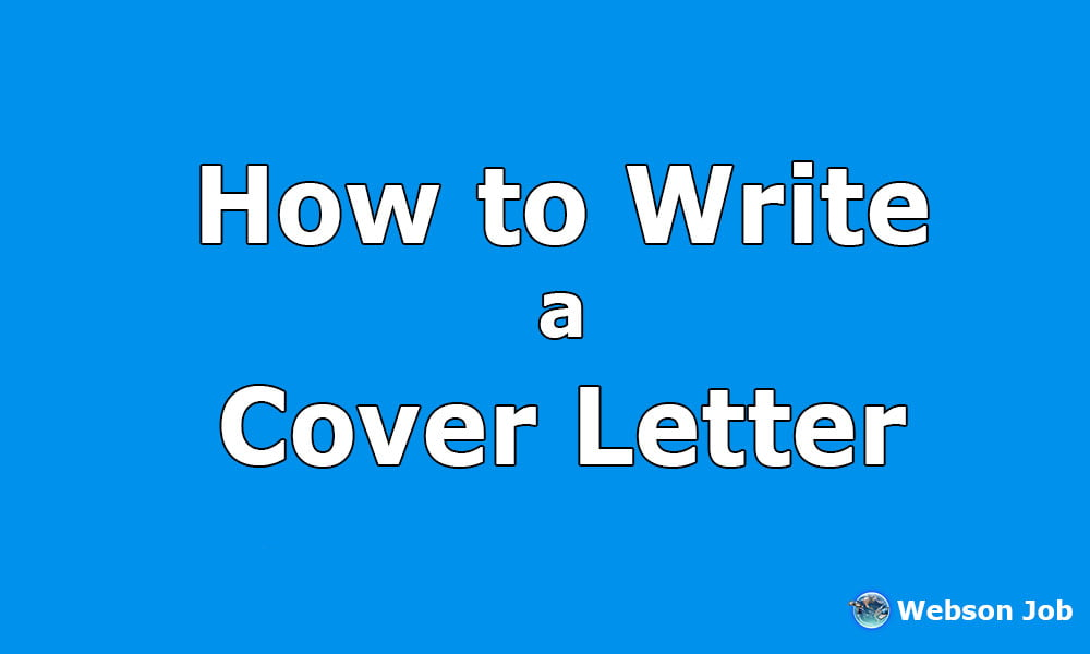 how to write a cover letter with professional samples webson job