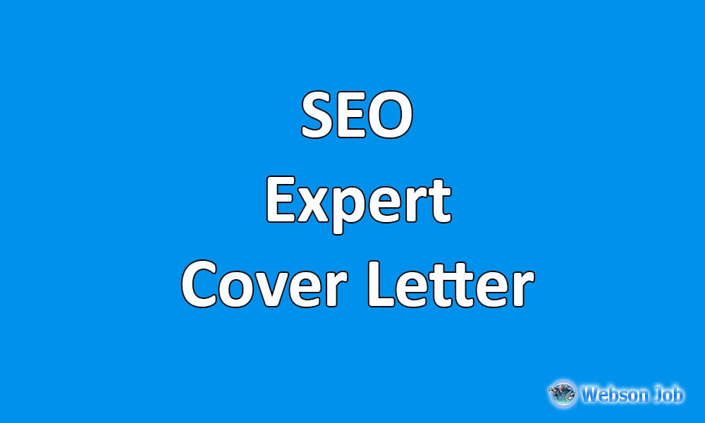 Upwork Cover Letter Sample For SEO (Search Engine Optimization)   Webson Job