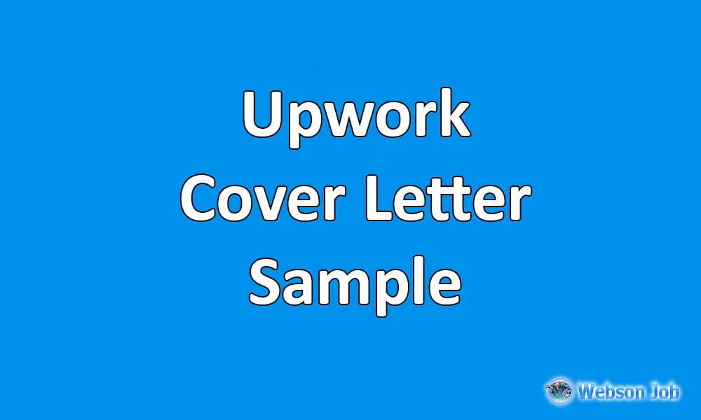 upwork cover letter sample - Selo.l-ink.co