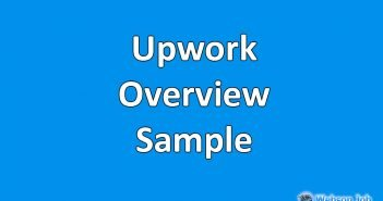 upwork overview sample example and format