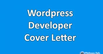 wordpress developer cover letter sample for upwork