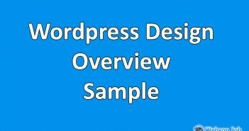 wordpress developer overview sample for upwork