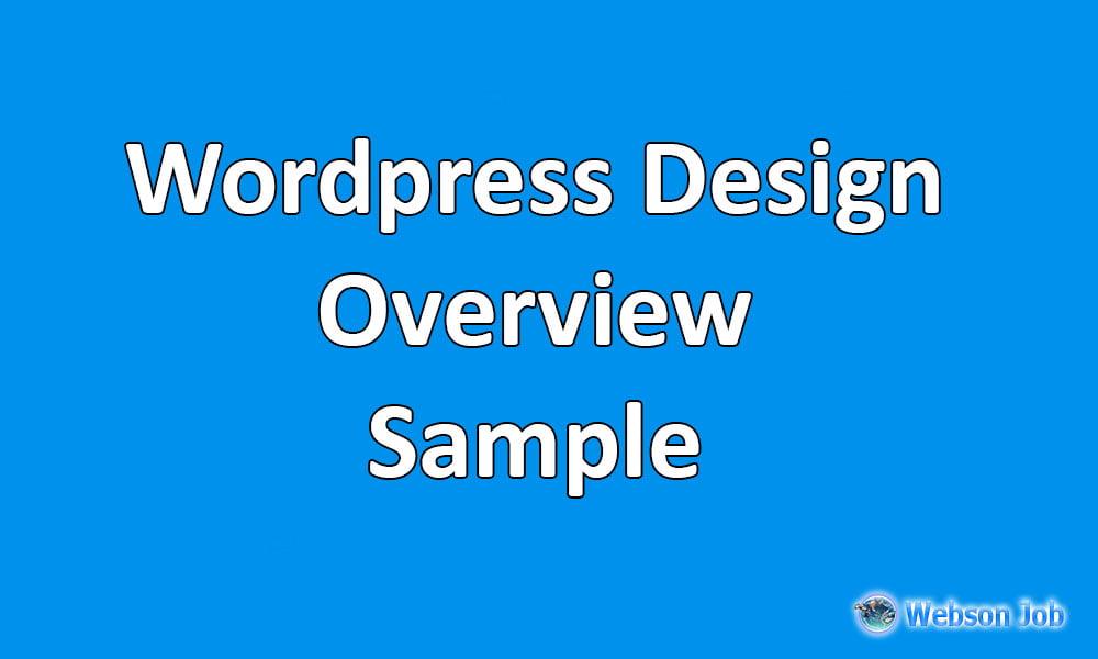 Upwork Overview Sample for Wordpress Developer - Webson Job
