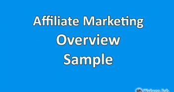 Upwork Profile Overview Sample for Affiliate Marketing