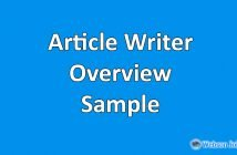 Upwork Profile Overview Sample for Article Writing