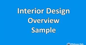 Upwork Overview Sample for Interior Design, Exterior Design, CAD or Product Design