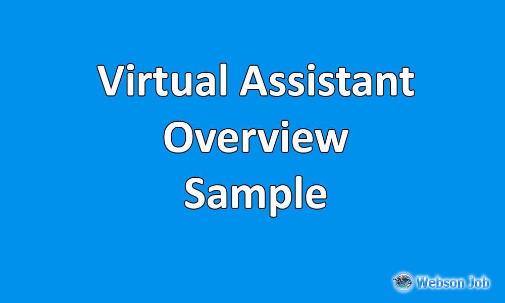 Upwork Profile Overview Sample for Virtual Assistant - Webson Job