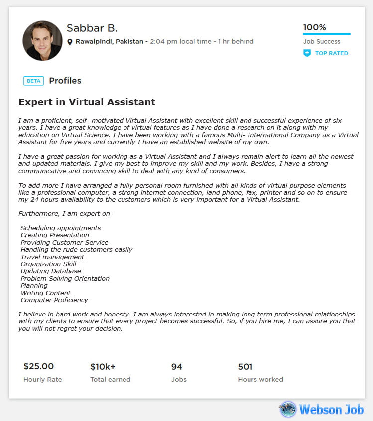 Virtual Assistant Cover Letter Example
