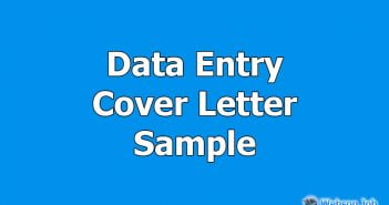 data entry cover letter sample