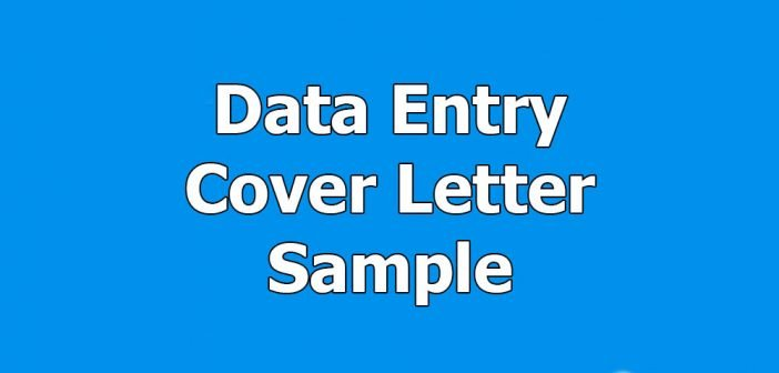 data entry cover letter sample for upwork webson job