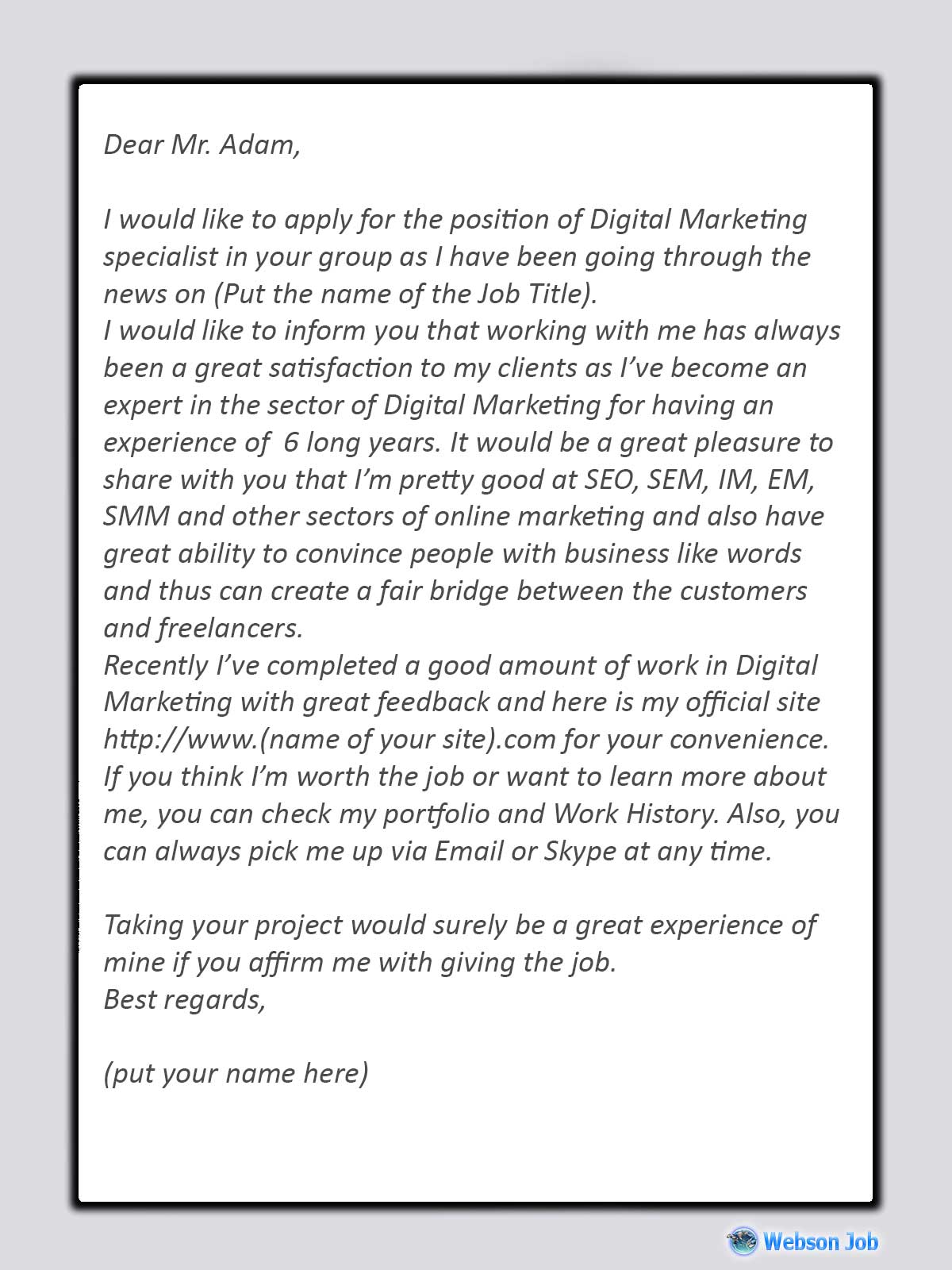 Upwork Proposal Sample for Digital Marketing