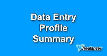 Data Entry Profile Summary Sample
