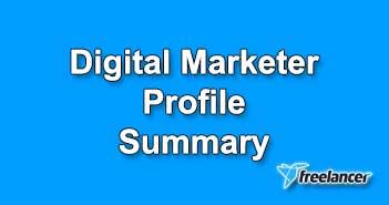 Digital Marketer Profile Summary