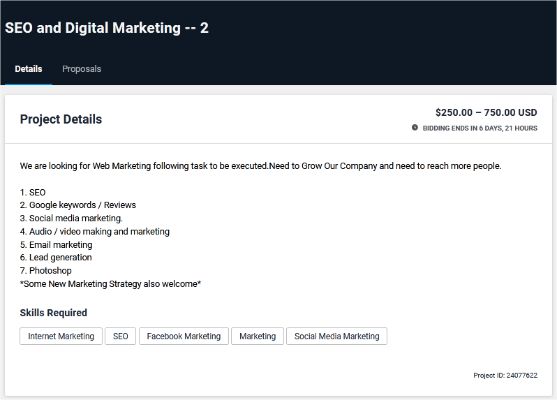 Digital Marketing and SMM Job Posting