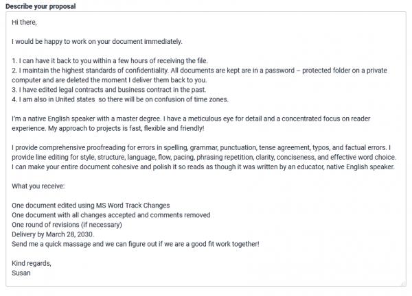 Freelancer Proposal Sample & Example 2020