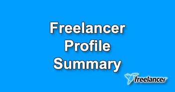 Freelancer Profile Summary Samples in 2020