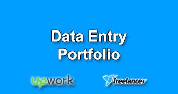 Data Entry Portfolio Samples for Upwork Freelancer